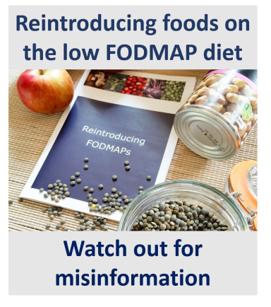 Planning on reintroducing FODMAPs? Be aware of misinformation!