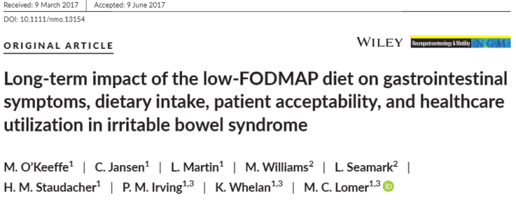 Long‐term impact of the low‐FODMAP diet on gastrointestinal symptoms, dietary intake, patient acceptability, and healthcare utilization in irritable bowel syndrome