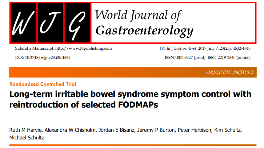 Long-term irritable bowel syndrome symptom control with reintroduction of selected FODMAPs
