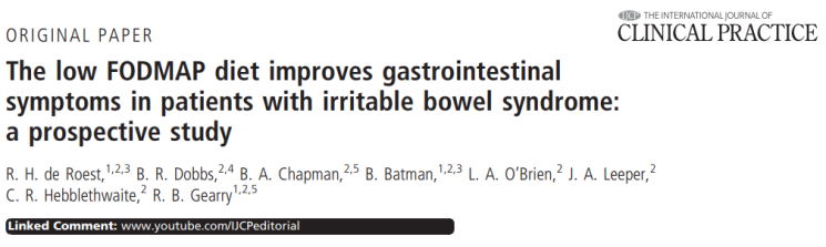 The low FODMAP diet improves gastrointestinal